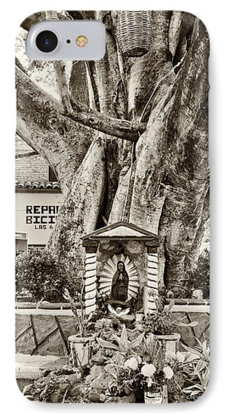 IPhone Case featuring the photograph Catholic Shrine - Our Lady Of Guadalupe, Mexico - Travel Photography By David Perry Lawrence by David Perry Lawrence