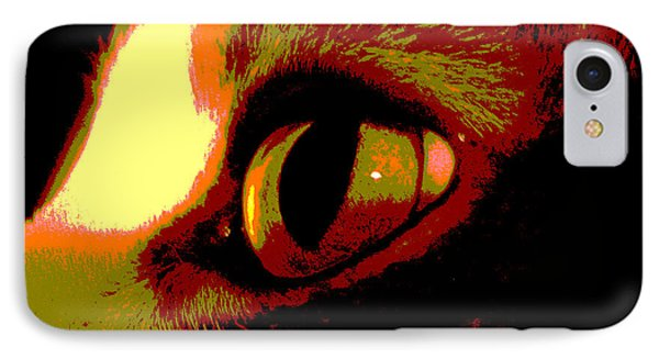Cat's Eye Abstract  Phone Case by Ann Powell