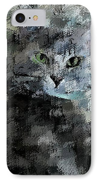 IPhone Case featuring the digital art Cats Eye by David Lane