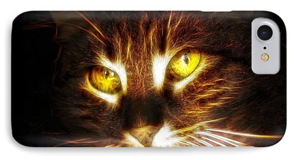 Cat's Eyes - Fractal IPhone Case by Lilia D