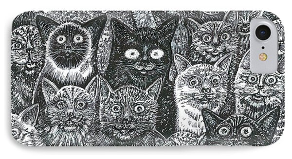 IPhone Case featuring the mixed media Cats Eyes by Giovanni Caputo