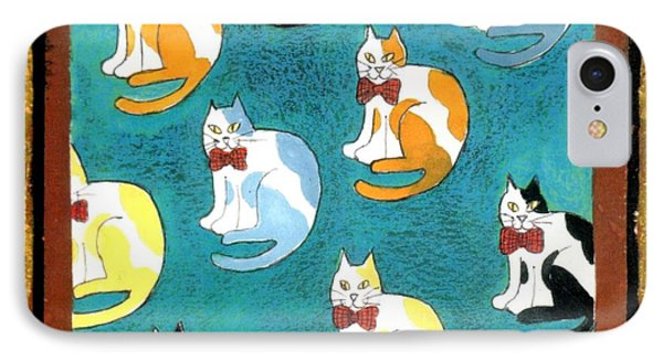 Cats Phone Case by Genevieve Esson
