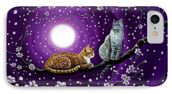 Cats In Dancing Cherry Blossoms IPhone Case