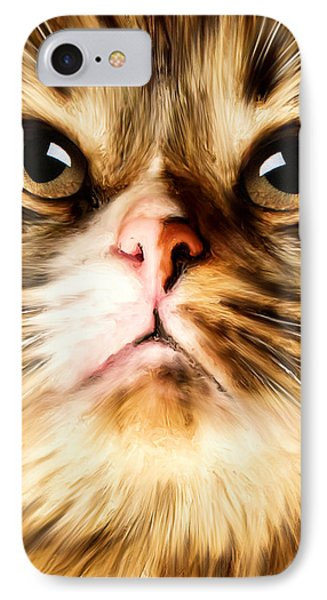 Cat's Perception IPhone Case by Lourry Legarde