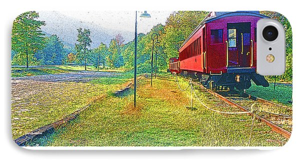 Catskill Mountain Railroad In Autumn IPhone Case by A Gurmankin