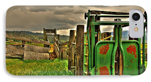 IPhone Case featuring the photograph Cattle Chute by Sam Rosen