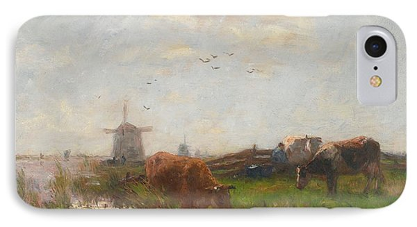 Cattle Grazing Phone Case by Willem Maris