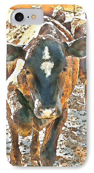 Cattle Round Up Phone Case by Artist and Photographer Laura Wrede