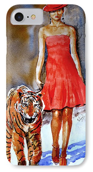 IPhone Case featuring the painting Catwalk by Steven Ponsford