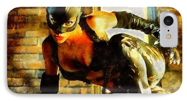 Catwoman IPhone Case by Elizabeth Coats