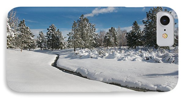IPhone Case featuring the photograph Caughlin Creek Snowfall by Vinnie Oakes