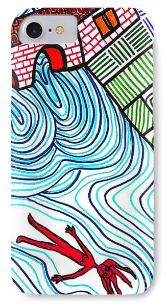 Caught In The Current Phone Case by Sarah Loft