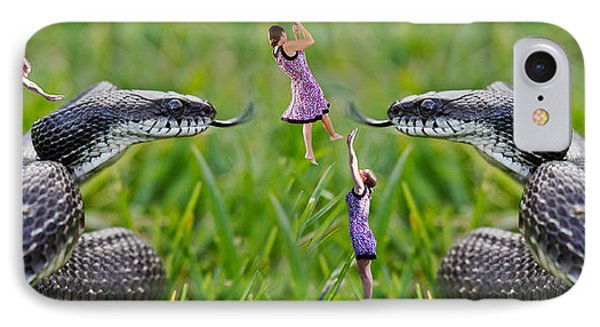 Caught In The Middle IPhone Case by Betsy Knapp