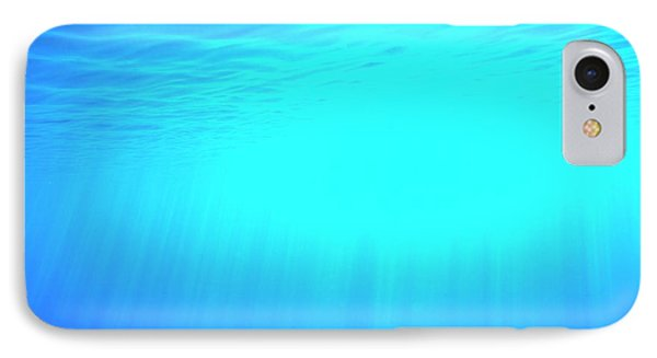 Caustic Rays Below The Sea Surface IPhone Case by David Parker
