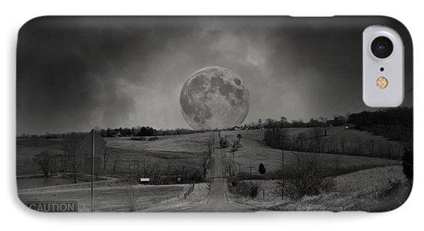 Caution Beautiful Moon Rise Ahead IPhone Case