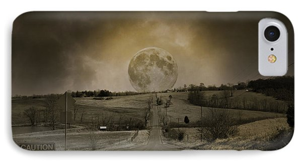 Caution Road IPhone Case by Betsy Knapp