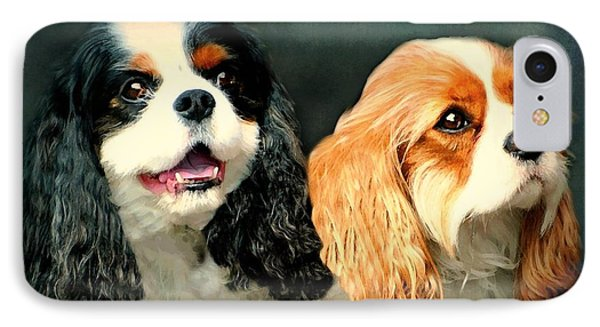 Cavalier King Charles IPhone Case by Diana Angstadt