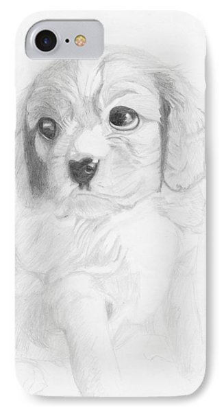 Cavalier King Charles Spaniel Puppy IPhone Case by David Smith