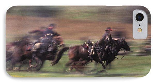 Cavalry Battle At A Civil War IPhone Case by Ron Sanford