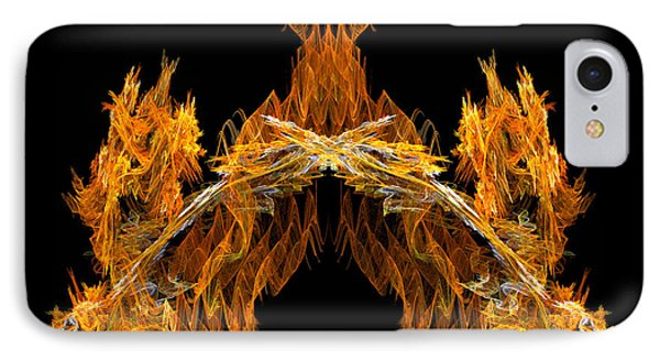 IPhone Case featuring the digital art Cave Of The Fire Creature by R Thomas Brass
