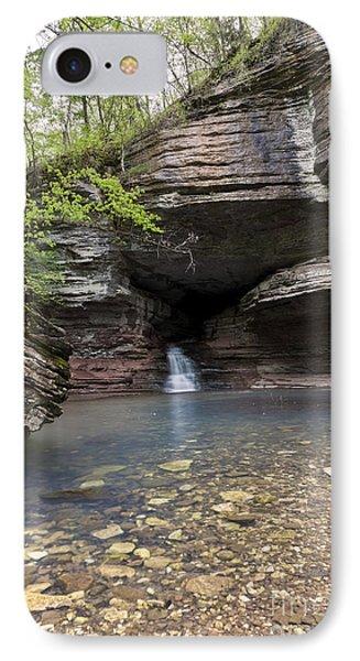 Cave Waterfall Along An Arkansas Trail IPhone Case
