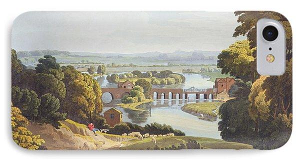 Caversham Bridge, Near Reading Phone Case by William Havell
