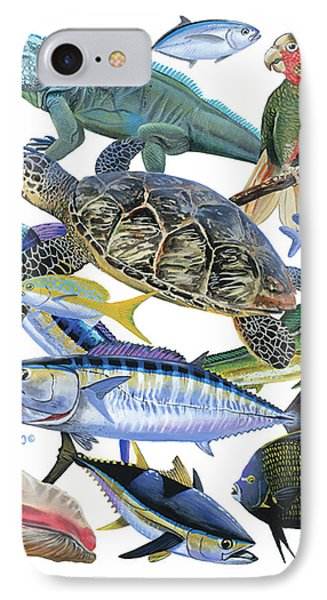 Cayman Collage IPhone Case by Carey Chen