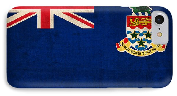 Cayman Islands Flag Vintage Distressed Finish IPhone Case by Design Turnpike