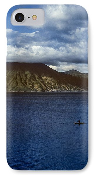 Cayuco On Lake Atitlan IPhone Case by Tina Manley