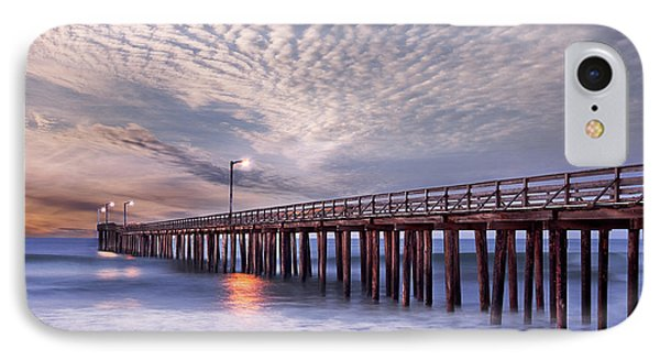 Cayucos Pier IPhone Case by Alice Cahill