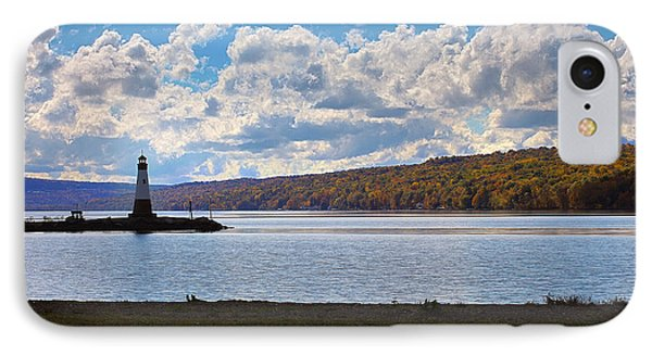 IPhone Case featuring the photograph Cayuga Lake In Colorful Fall Ithaca New York IIi by Paul Ge