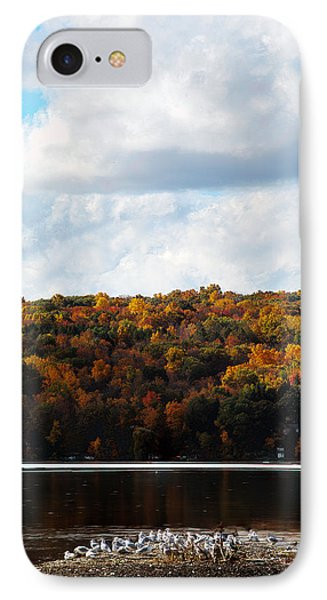 IPhone Case featuring the photograph Cayuga Lake In Colorful Fall Ithaca New York  by Paul Ge