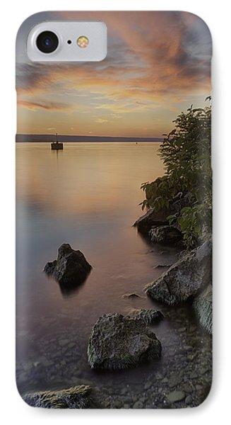 Cayuga Sunset I Phone Case by Michele Steffey
