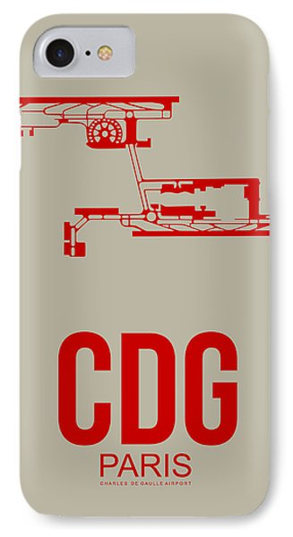 Cdg Paris Airport Poster 2 IPhone Case by Naxart Studio