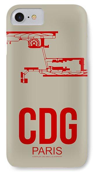 Cdg Paris Airport Poster 2 IPhone 7 Case by Naxart Studio