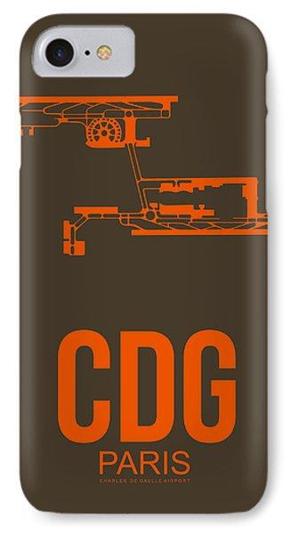 Cdg Paris Airport Poster 3 IPhone Case by Naxart Studio