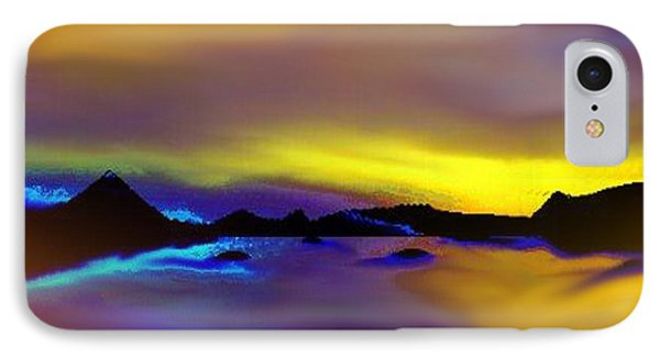 IPhone Case featuring the painting Cebu Sunset by Yul Olaivar