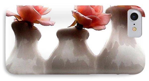 Cecil Brunner Roses  IPhone Case by Karen Molenaar Terrell