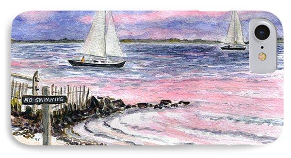 Cedar Beach Pinks IPhone Case by Clara Sue Beym