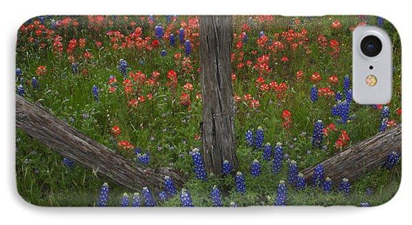 Cedar Fence In Llano Texas IPhone Case by Susan Rovira