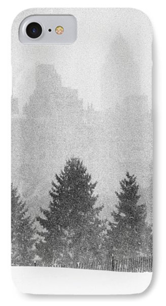 IPhone 7 Case featuring the photograph Cedar Hill Snow Shapes by Dave Beckerman