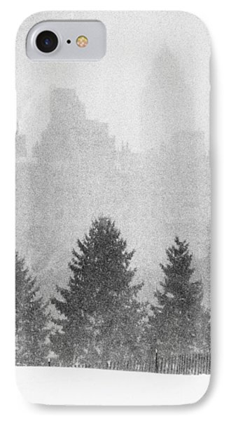 IPhone Case featuring the photograph Cedar Hill Snow Shapes by Dave Beckerman