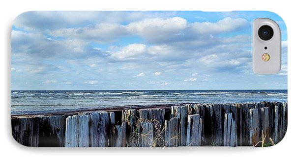 Cedar Island Gale IPhone Case by Karen Rhodes