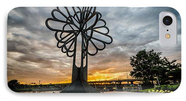 Cedar Rapids Five Seasons Tree At Sunset IPhone Case