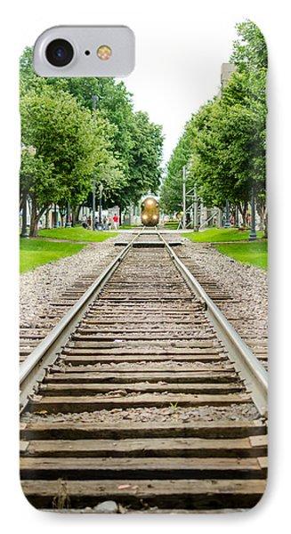 Cedar Rapids Train Coming Down The Tracks IPhone Case