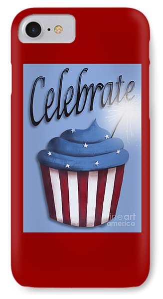 Celebrate The 4th / Blue IPhone Case by Catherine Holman