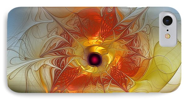 Celebration For A Rising Star-abstract Fractal Art IPhone Case by Karin Kuhlmann