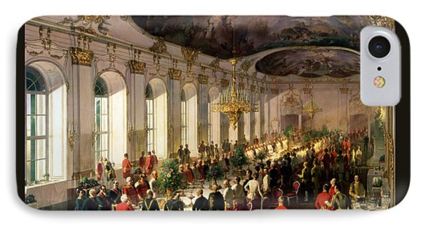 Celebration On The Occasion Of The Anniversary Of The Military Order Of Maria Theresa, 1861 IPhone Case by Siegmund L'Allemand