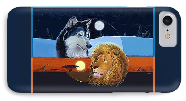 IPhone Case featuring the mixed media Celestial Kings by J L Meadows