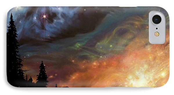 Celestial Northwest IPhone Case by Lucy West